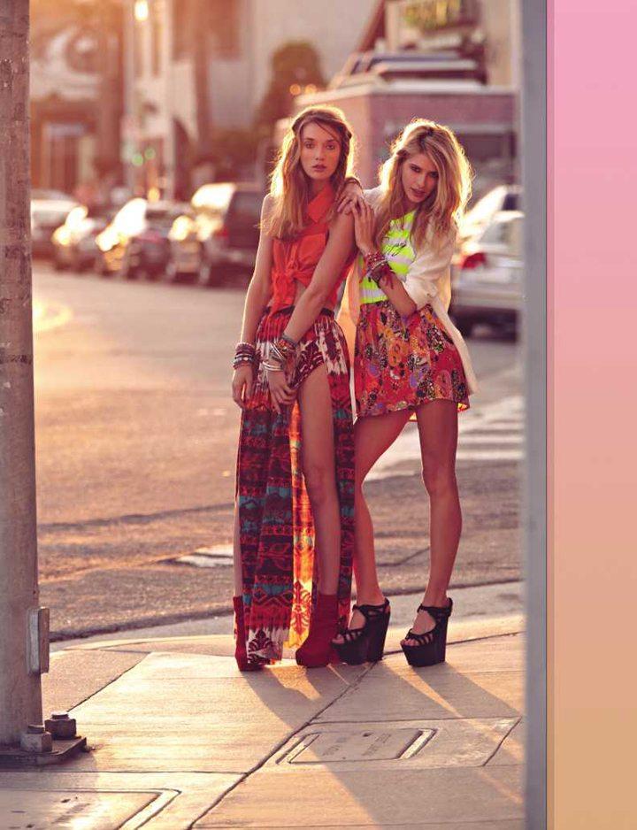 maxi šaty hippie style