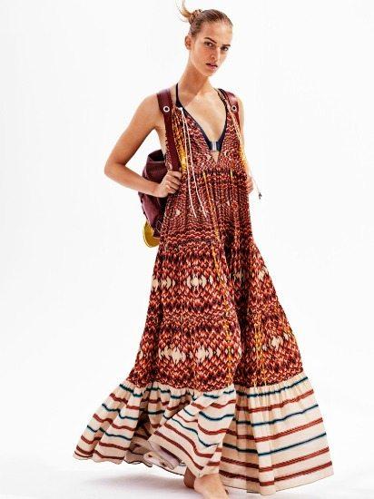 maxi šaty retro