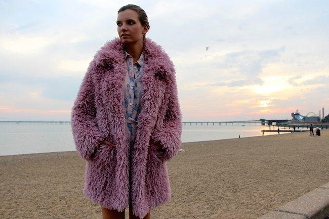 pastelové barvy kabát