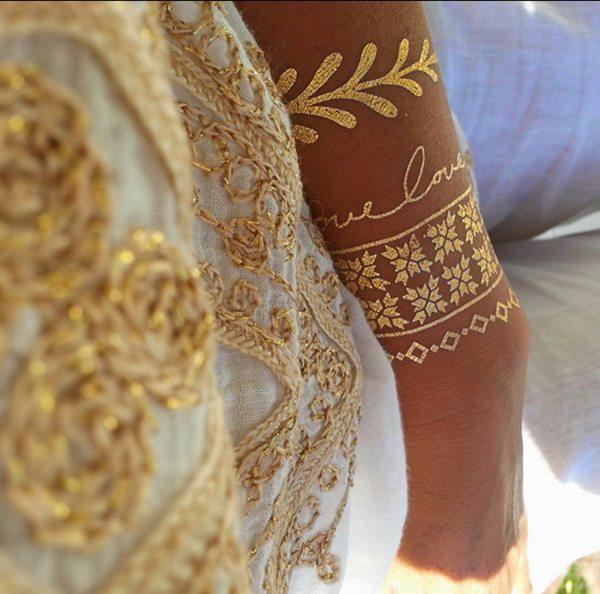 zlaté tetování