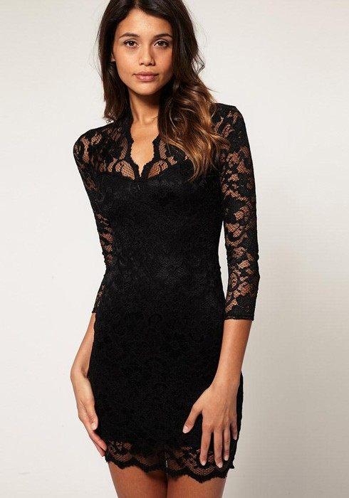 černé krajkové šaty na ples