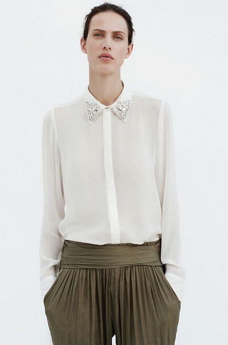 bílá košile Zara