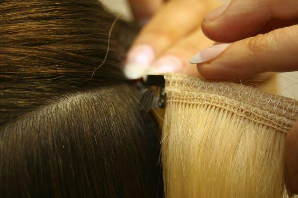 clip-in metoda prodloužení vlasů