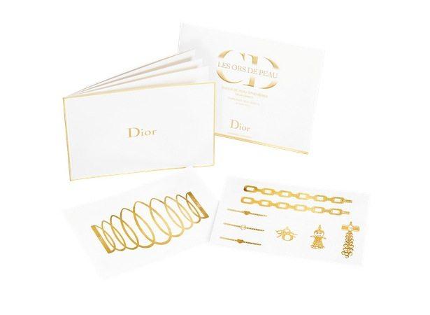 Zlaté tetování Dior