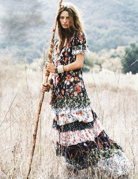 maxi šaty hippie