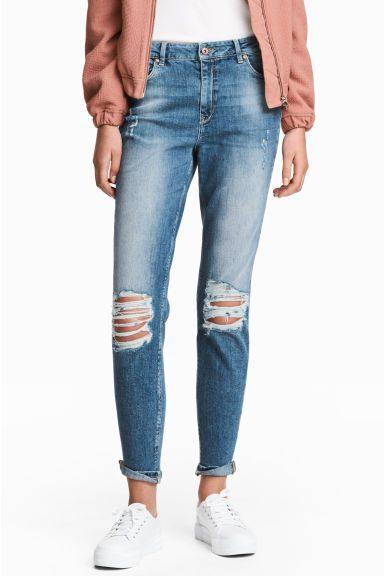 roztrhané slim džíny