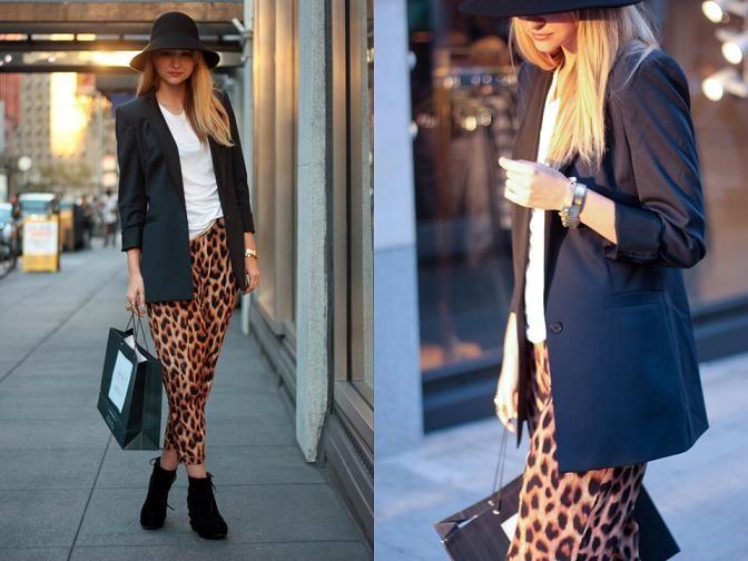 leopardí kalhoty