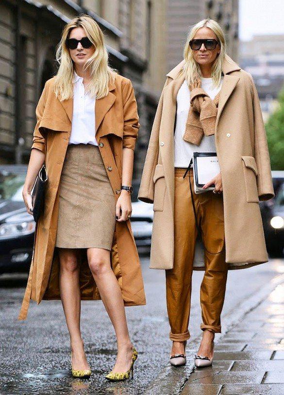 béžové kabáty