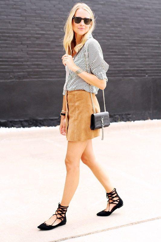 semišová móda trendy