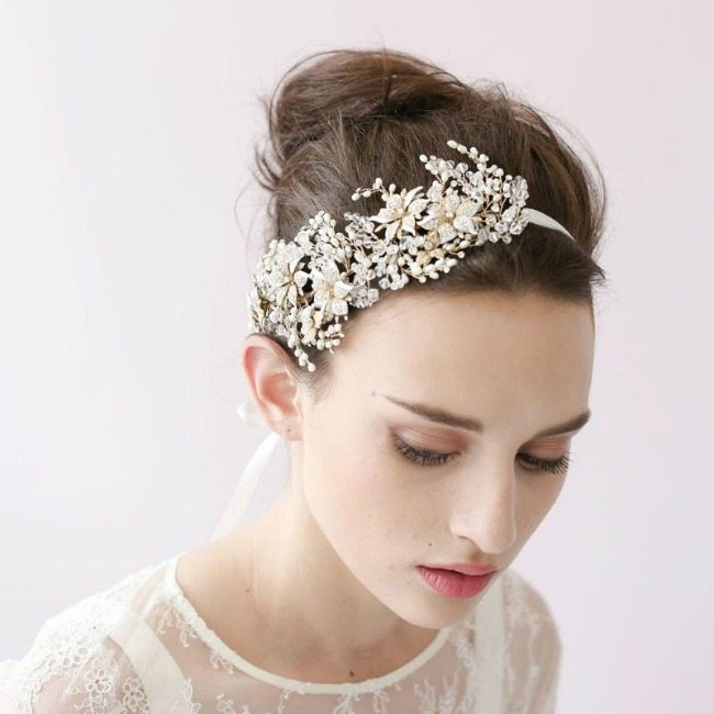 šperky do vlasů svatební čelenka