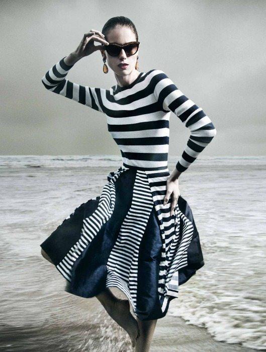dámská móda proužky