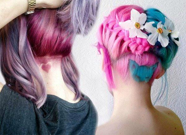 sestříhaná strana hlavy účes pro ženy