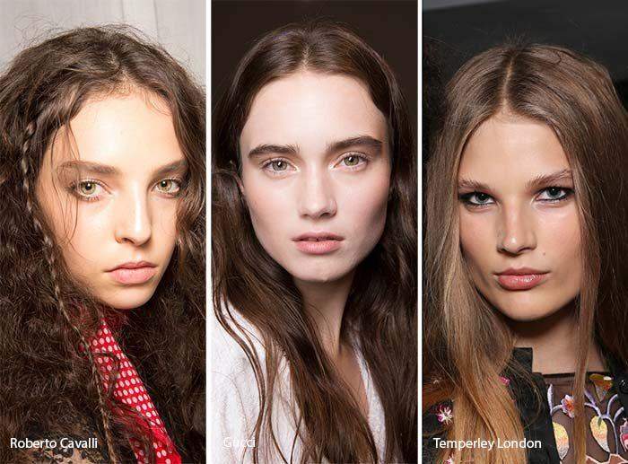 barvy dámské účesy jaro léto 2017 hnědé