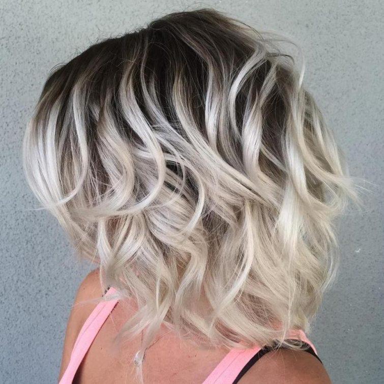 blond ombré vlasy podzim zima 2018