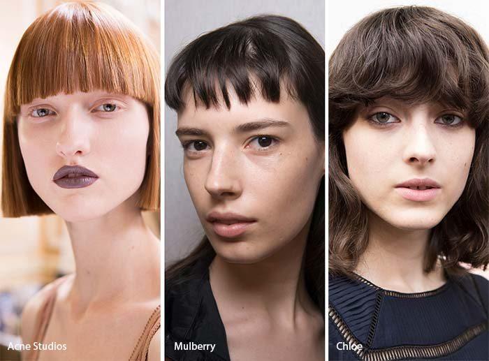 ženské účesy 2017 rovná ofina