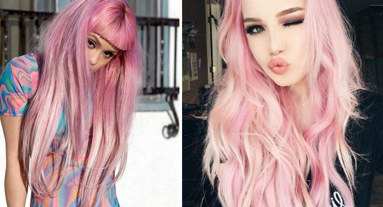 ženy vlasy účesy pastelová růžová