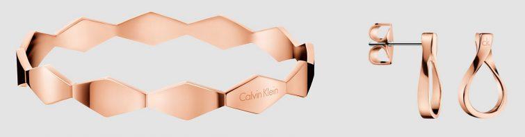 calvin klein šperky ocelové růžové