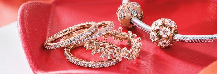 šperky růžové zlato pandora