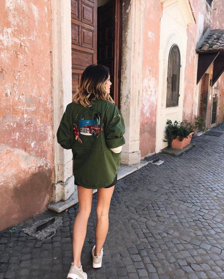 dámská bunda výšivky vzory